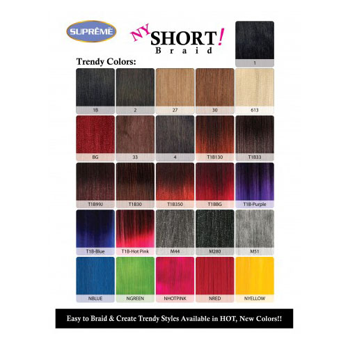 Synthetic Braiding Hair Color Chart Best Hair Color 2018